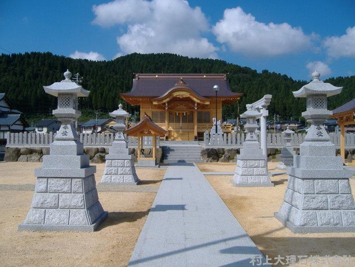神明神社(越前市新小野町) | 村上大理石株式会社