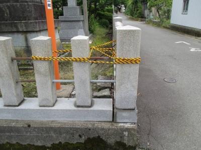 【施工事例】神社の玉垣補修