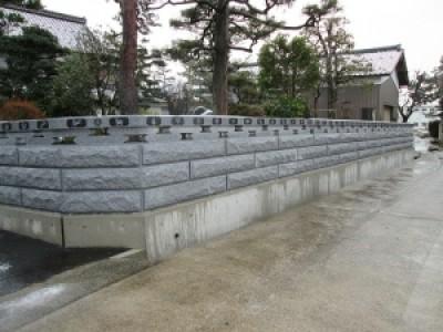 【施工事例】御影石の石垣施工