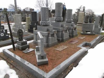 【施工事例】お墓の防草土工事