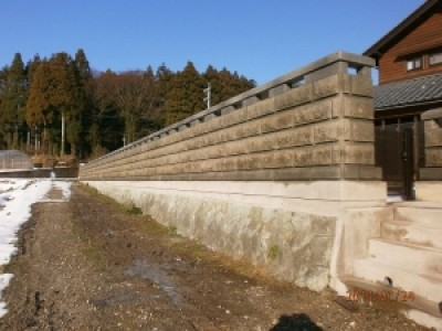 【施工事例】別畑石での石垣施工例