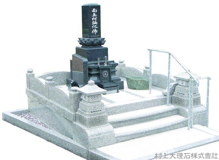 墓石、外柵ともに重厚感あふれる仕様