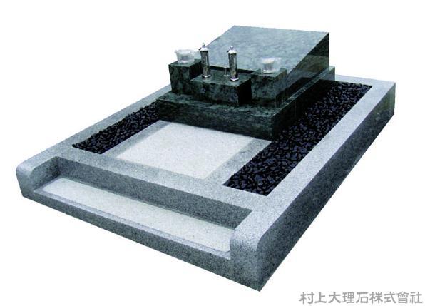 西洋風のプレート墓石