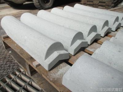 【加工事例】笏谷石の丸瓦製作